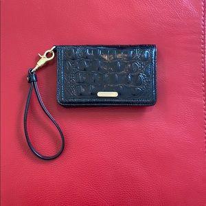 Brahmin Melbourne Collection Debra Wristlet, Black